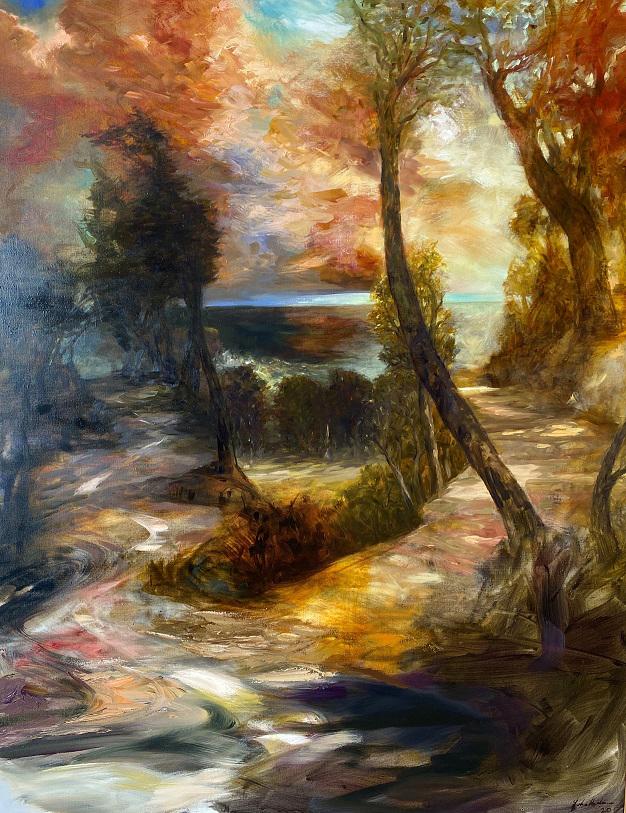 Anderson - Australian Galleries - Dusk on the road