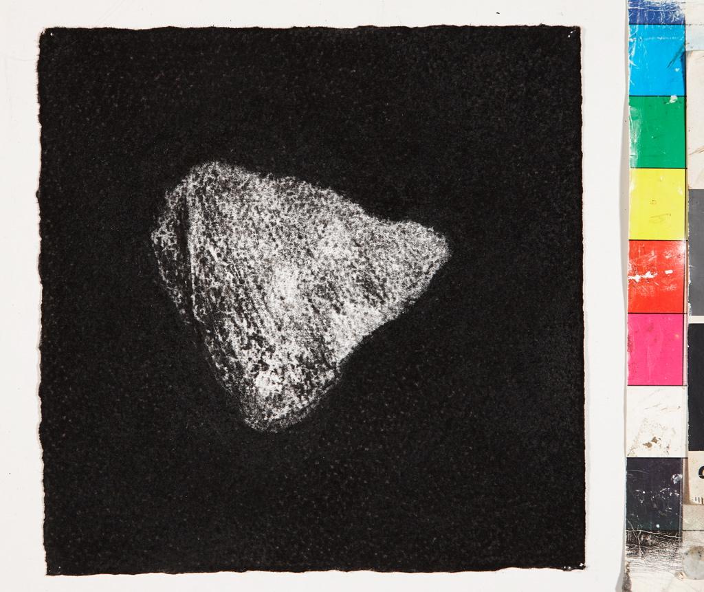 Jennifer Keeler-Milne Desert rock #1 2013 charcoal on paper 18 x 18. cm 72
