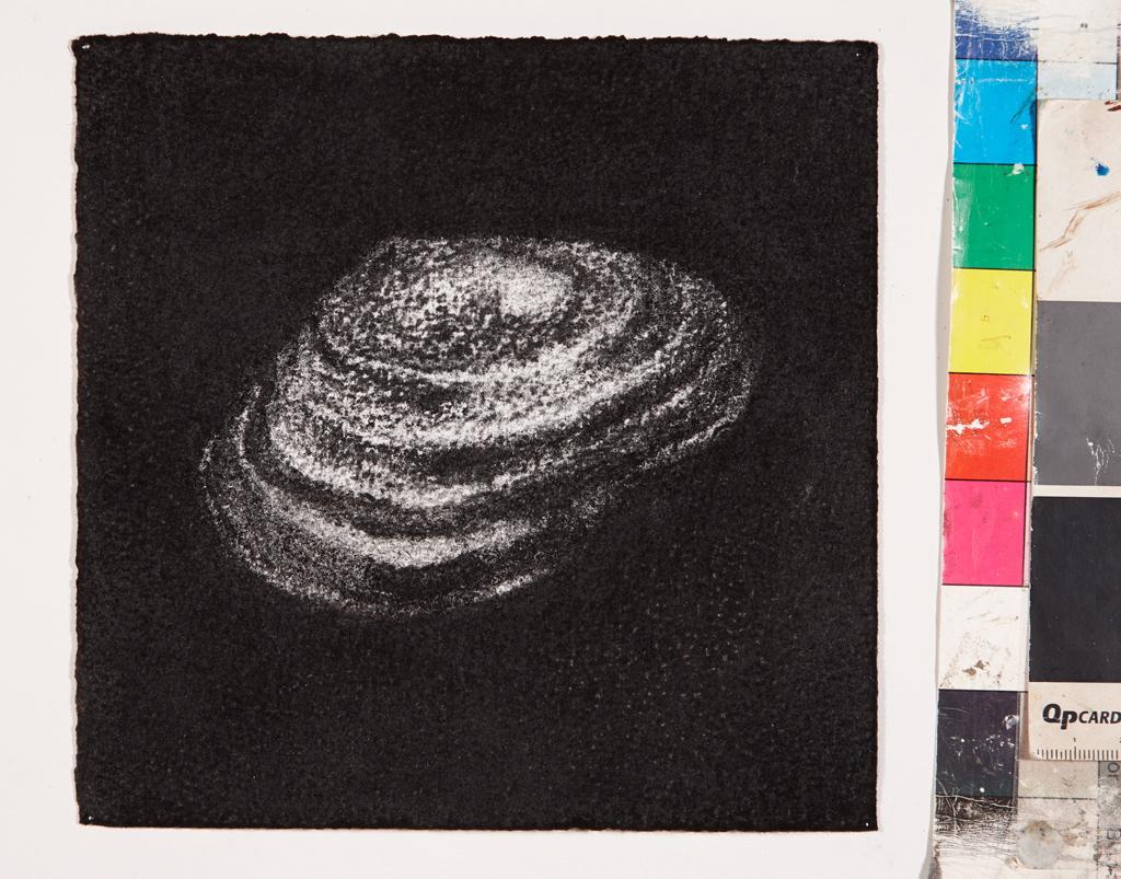 Jennifer Keeler-Milne Desert rock #7 2013 charcoal on paper 18 x 18. cm 72