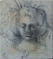 Face of an Apsara (579)