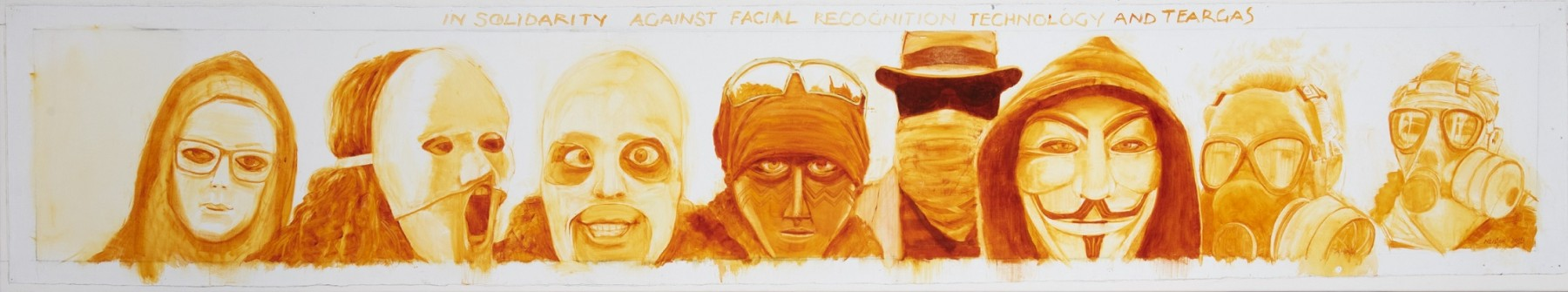 In solidarity against facial recognition technology…and tear gas