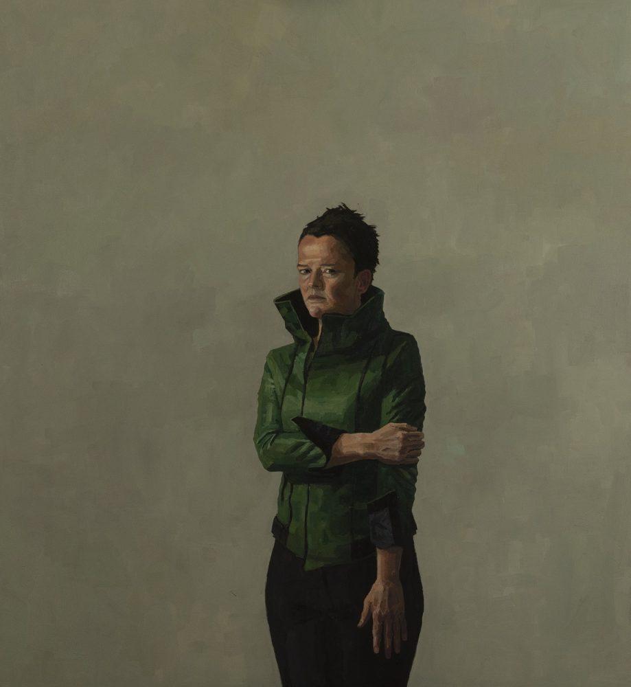 Self portrait in green coat