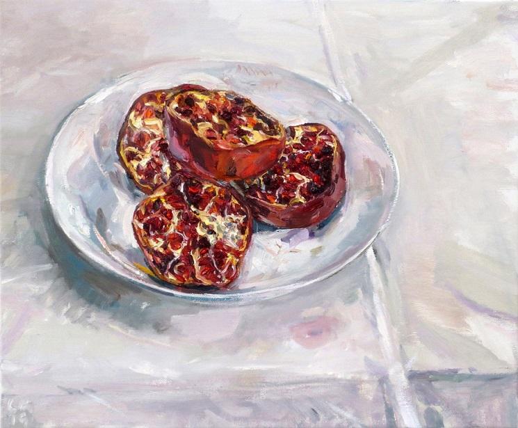 Pomegranates in bowl II