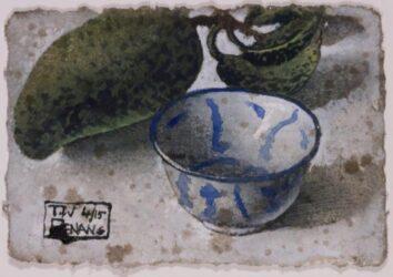 Mango with bowl