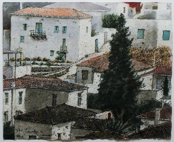Rooftops, Hydra, the house of L. Cohen, II