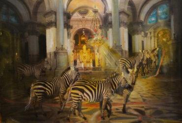Zebras in salute II