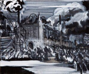 Haunting image (after F. Brangwyn)