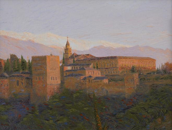 Postcard from Granada -€ Alhambra sunset