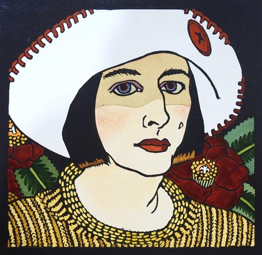 Anna's Hat – self-portrait