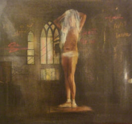 Study for 'Private view'