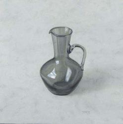 Grey glass jug