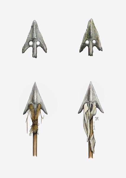 Incendiary arrowheads