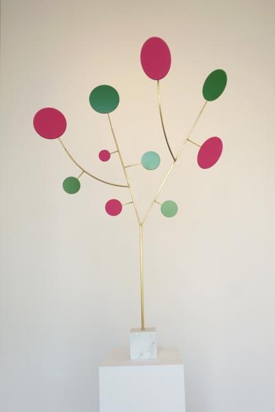 Tree magenta and green