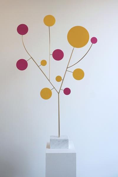 Tree magenta and yellow