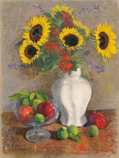 Sunflowers, pomegranates and limes