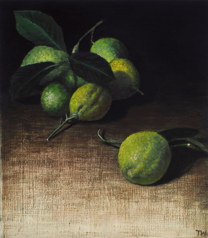 Dark composition with lemons