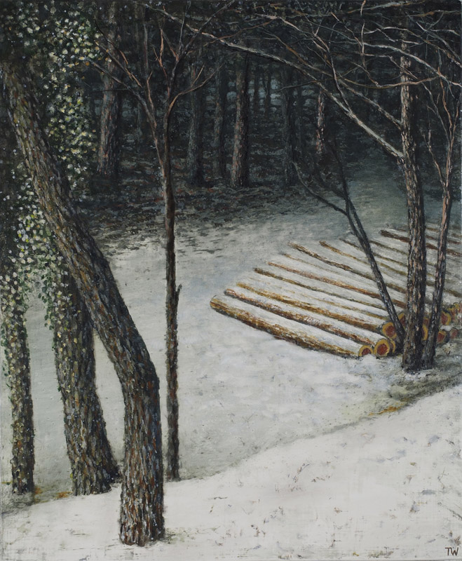 Study for, Logs in a forest