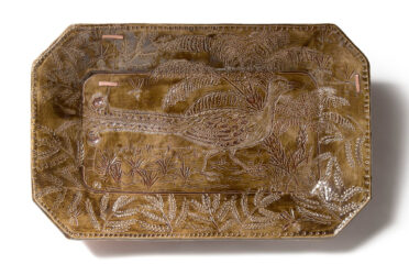 Colonial platter with lyrebird