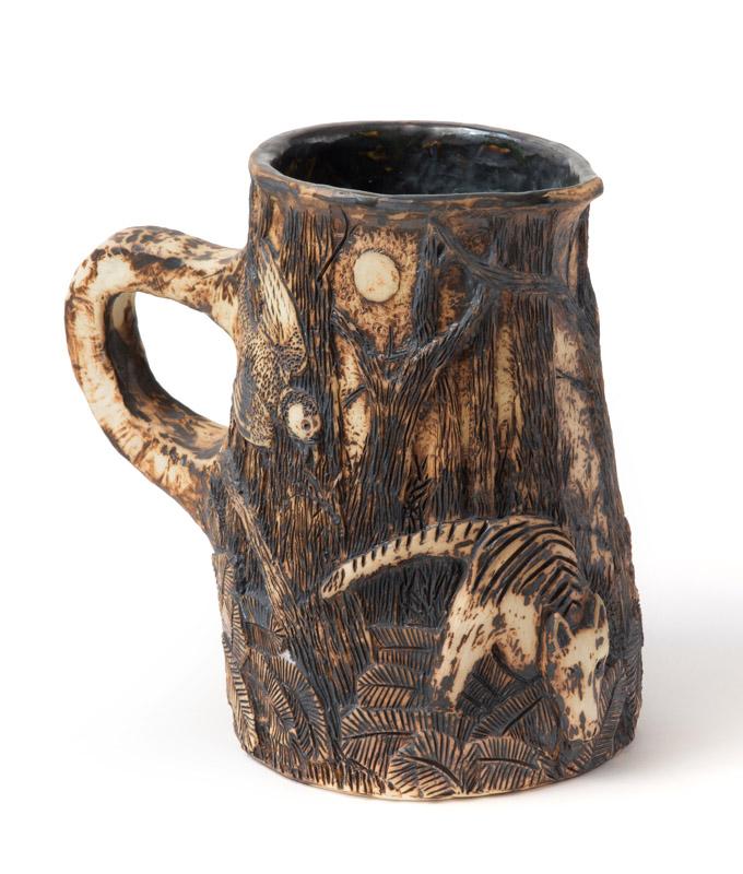 Ceramic jug after Colonial evening –  landscape after George Raper