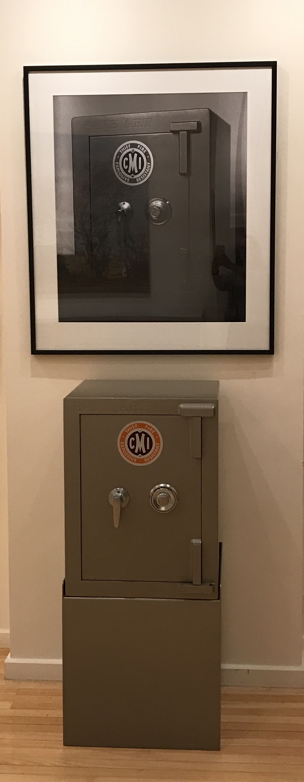Safe art + photograph of original safe