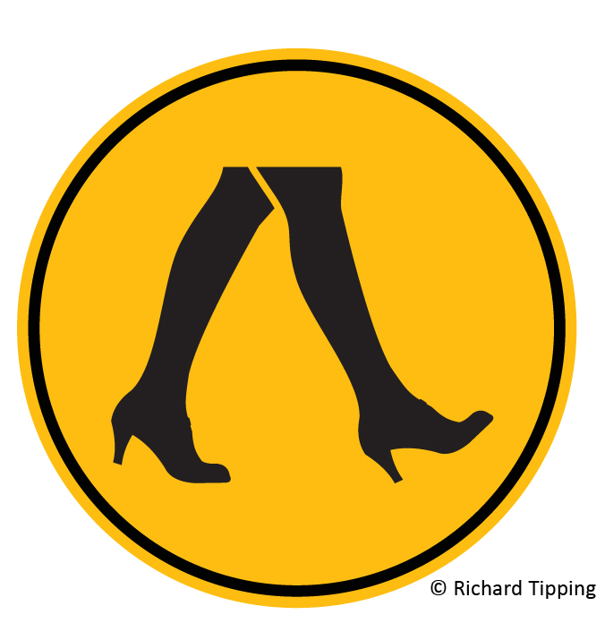 Woman crossing (high heels)