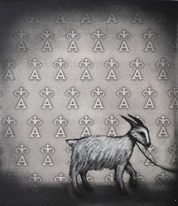 Branding the white goat