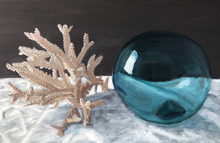Coral and Glass Buoy