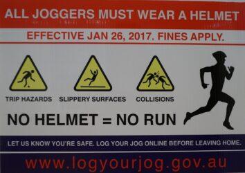 All joggers must wear helmet