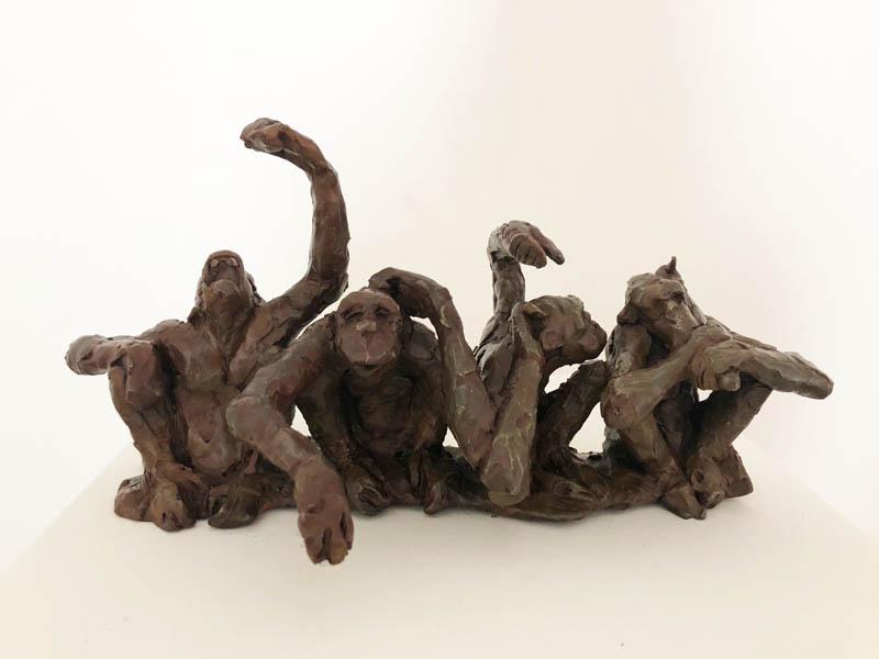 Four Bad Monkeys (speak evil, see evil, hear evil, do evil)