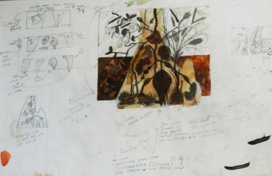 Study for, Yiriŋaniŋ Mawuka and Buwakul
