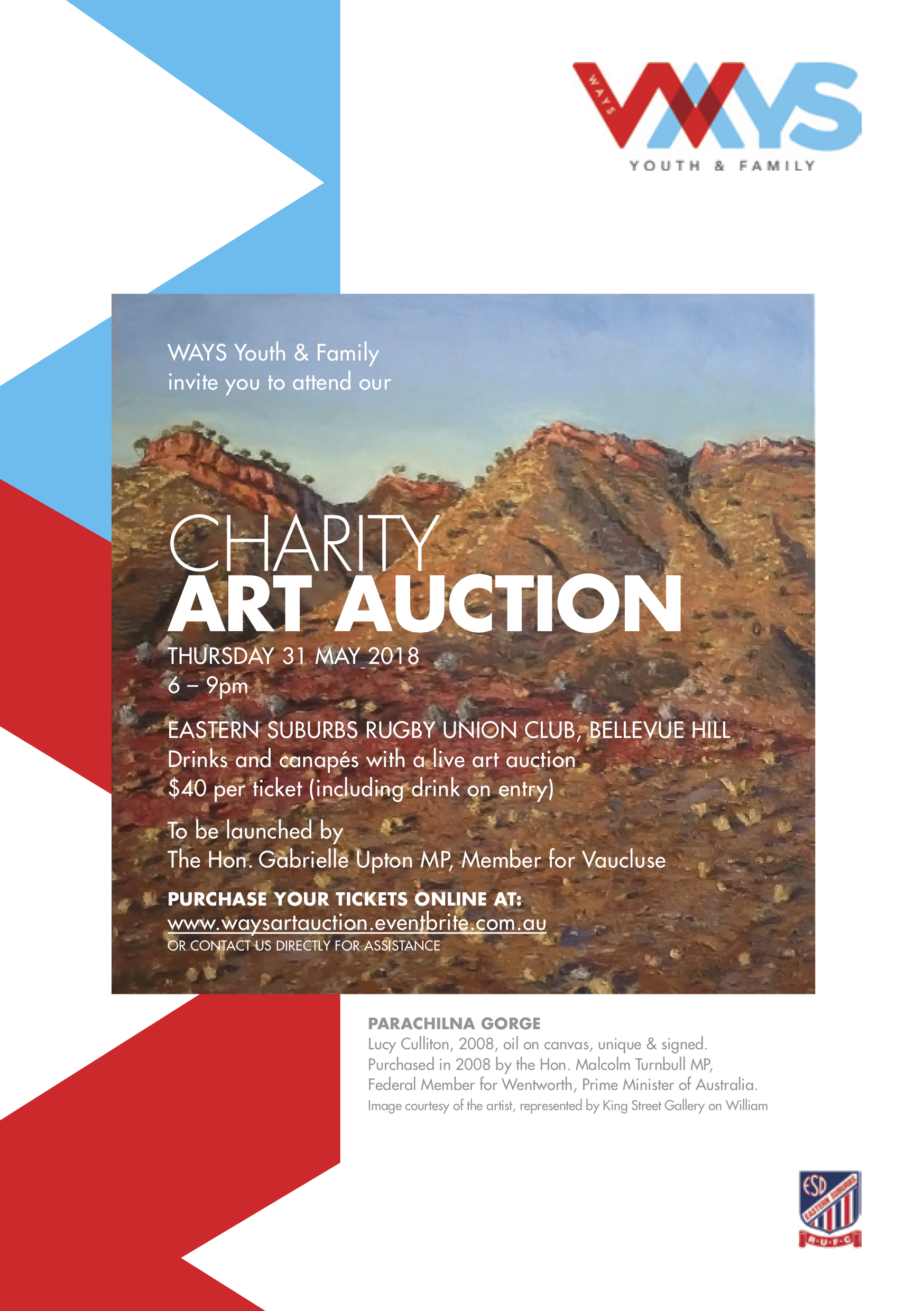 WAYS Youth and Family Charity Art Auction