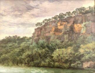 Rock wall, Wisemans Ferry
