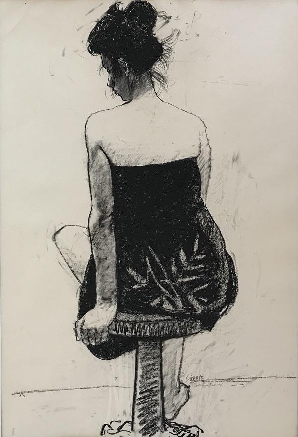 Seated Figure, Black Wrap