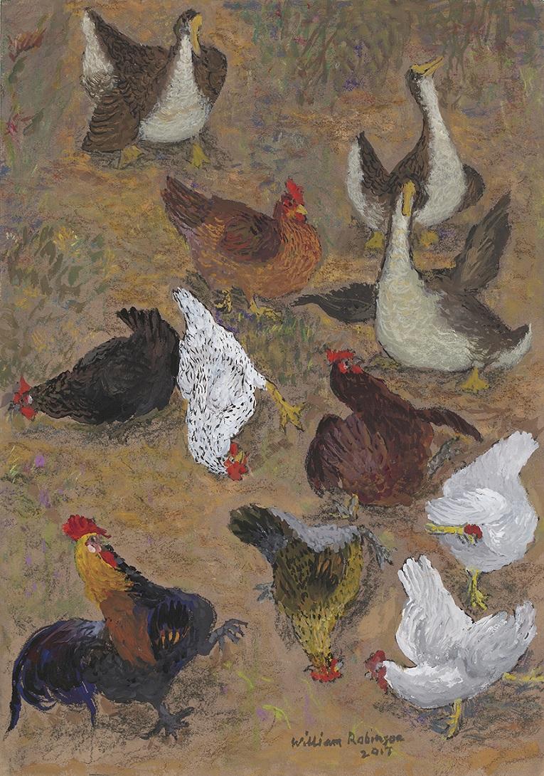Chookyard with geese