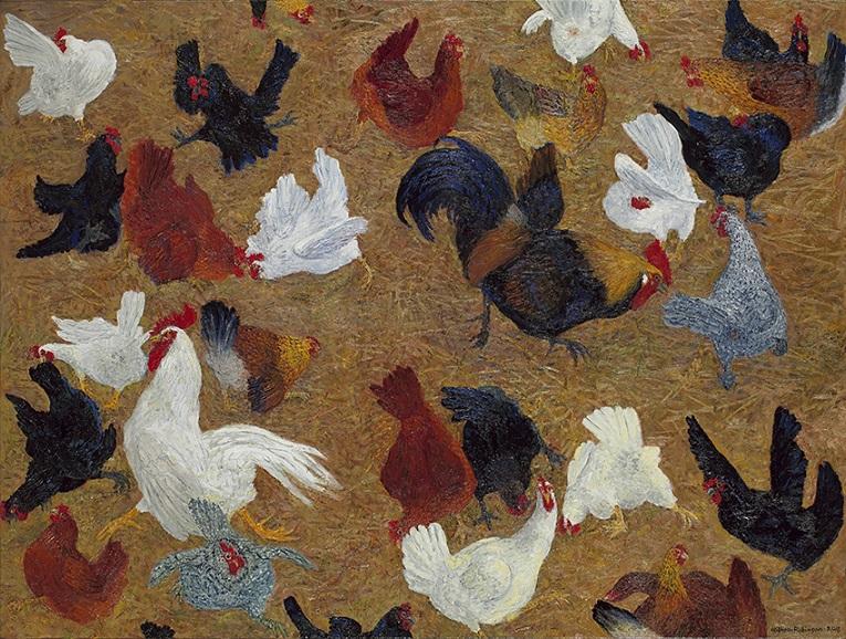 Chookyard with pecking order