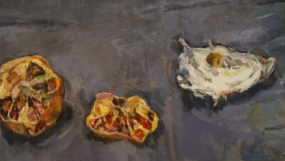Still Life with pomegranate and Oyster Shell I