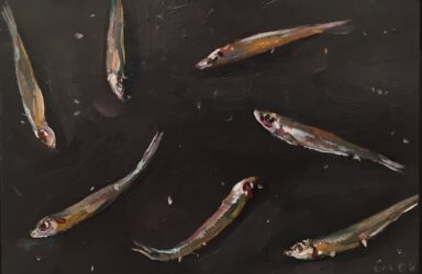 Still life with white bait II