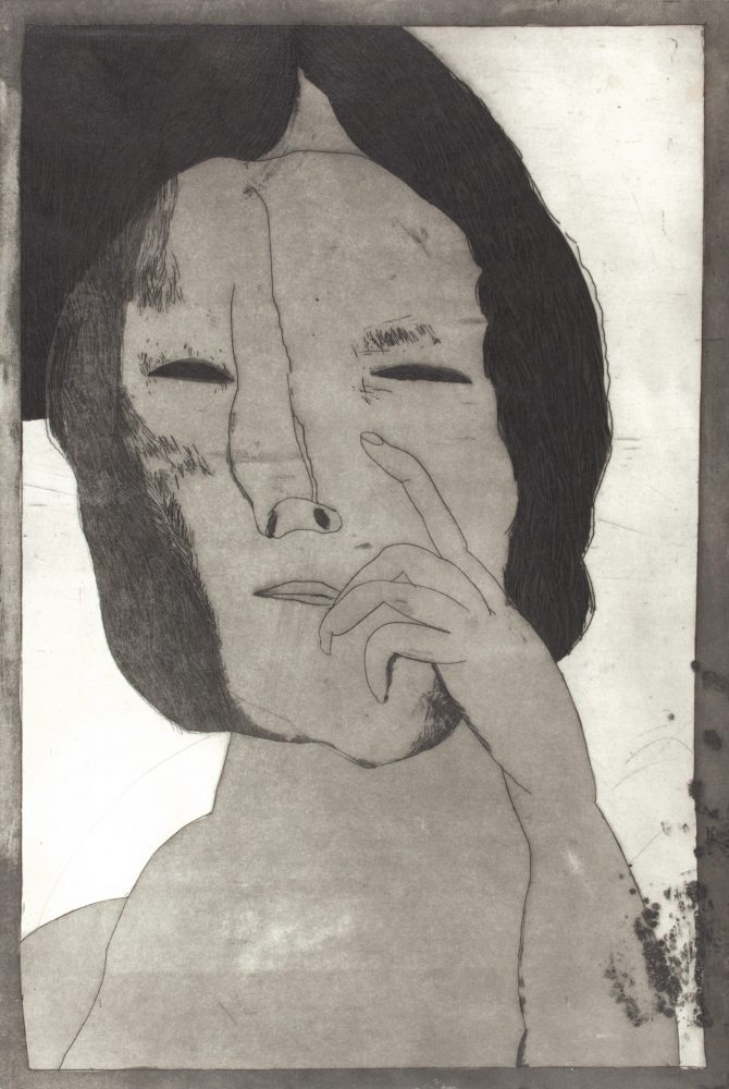 Untitled (portrait with hand)