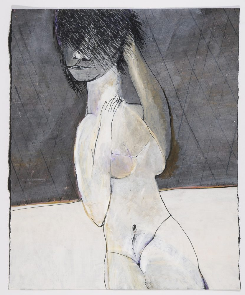 Untitled (woman with hair across face)  c.