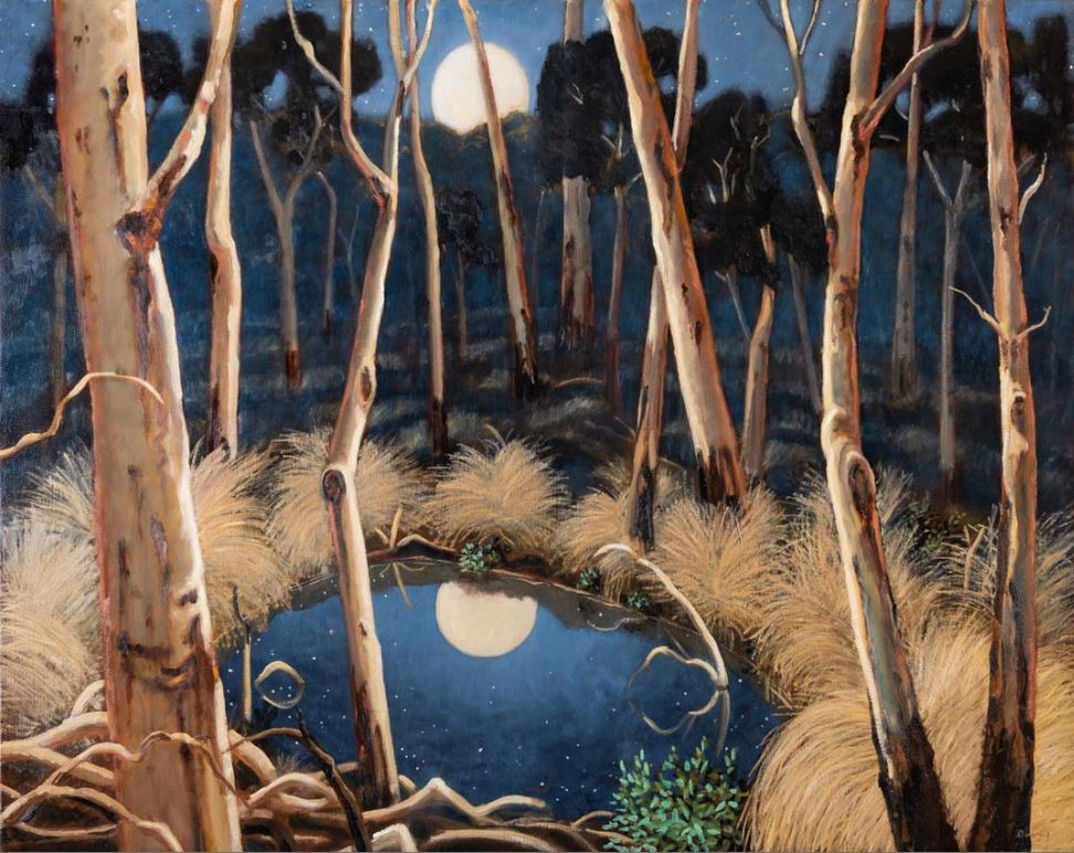 Reflected moon