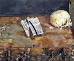 Skull and paintbox