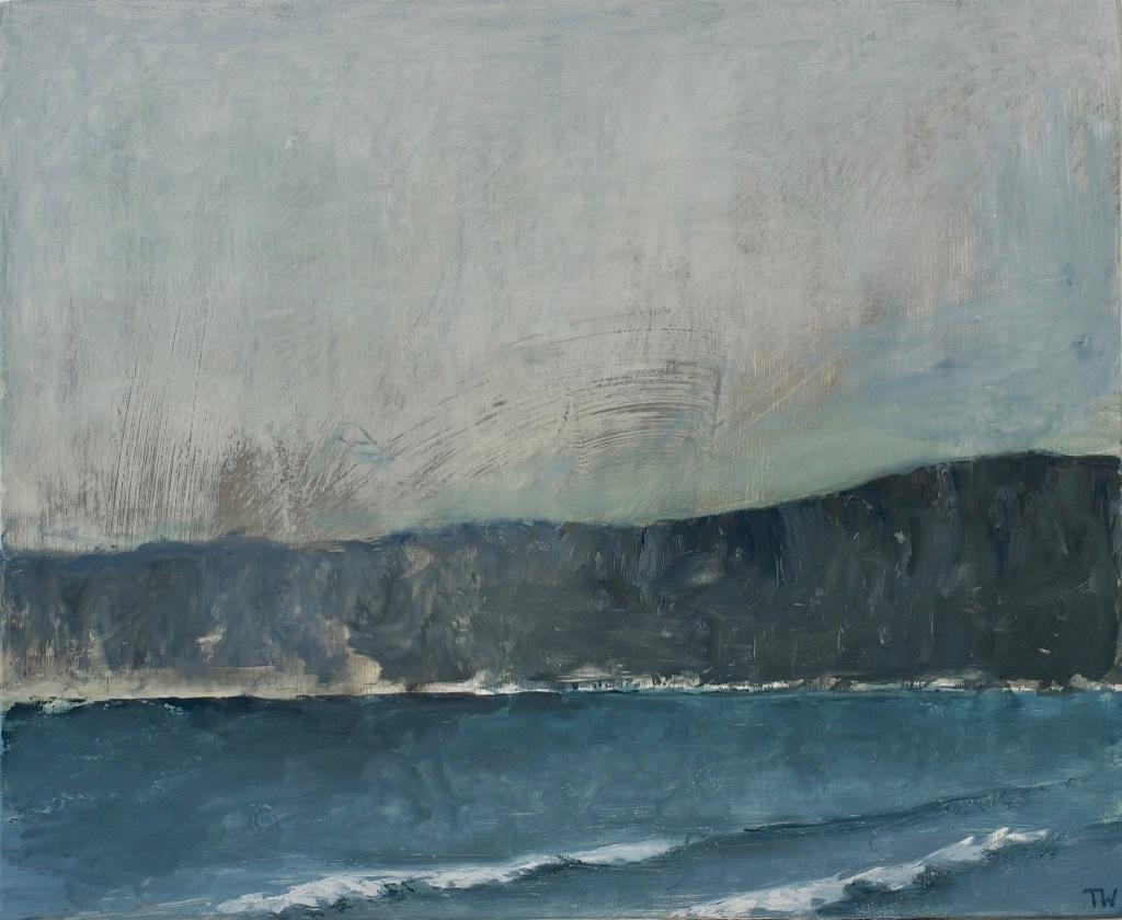 Rough sea and headland