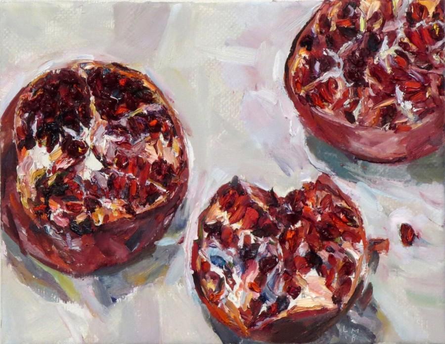 Three pomegranates I
