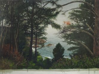 Through the pines, the sea