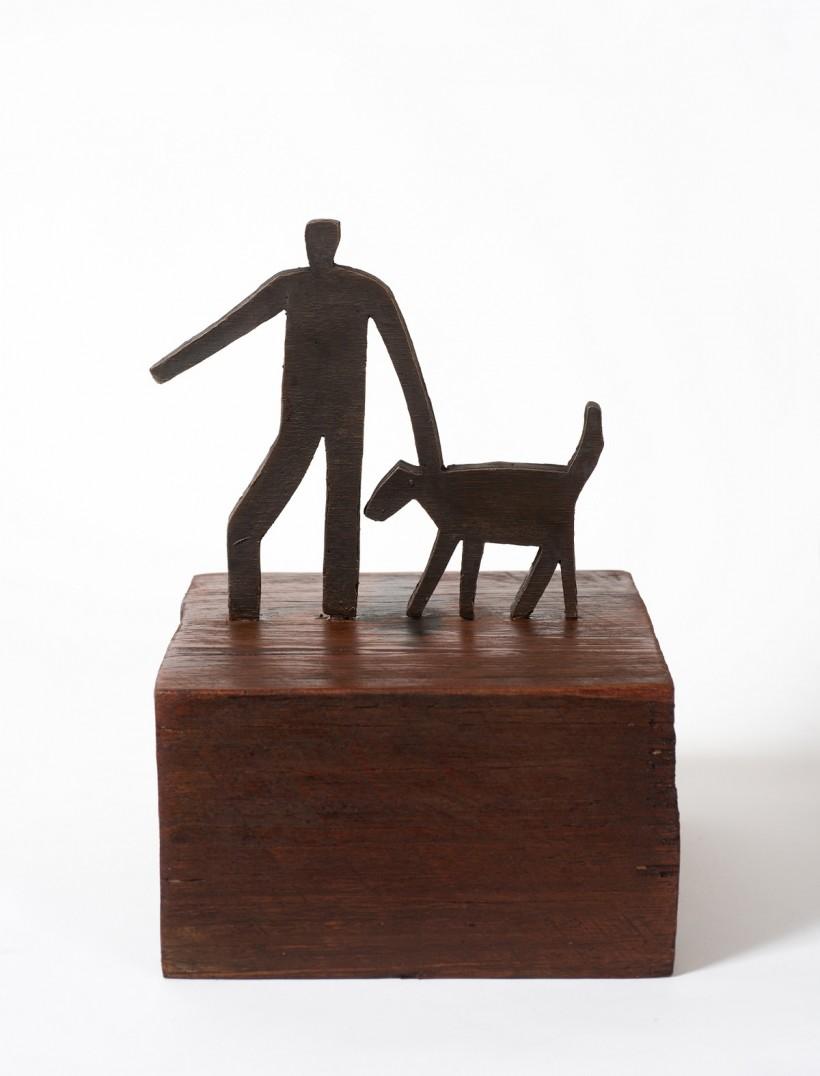 Figure and dog