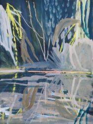 Yellow palm reflection