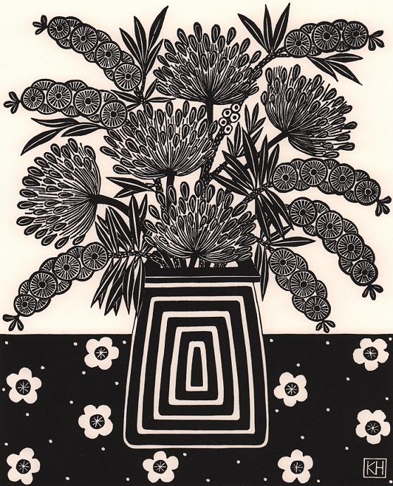Bottlebrush & agapanthus