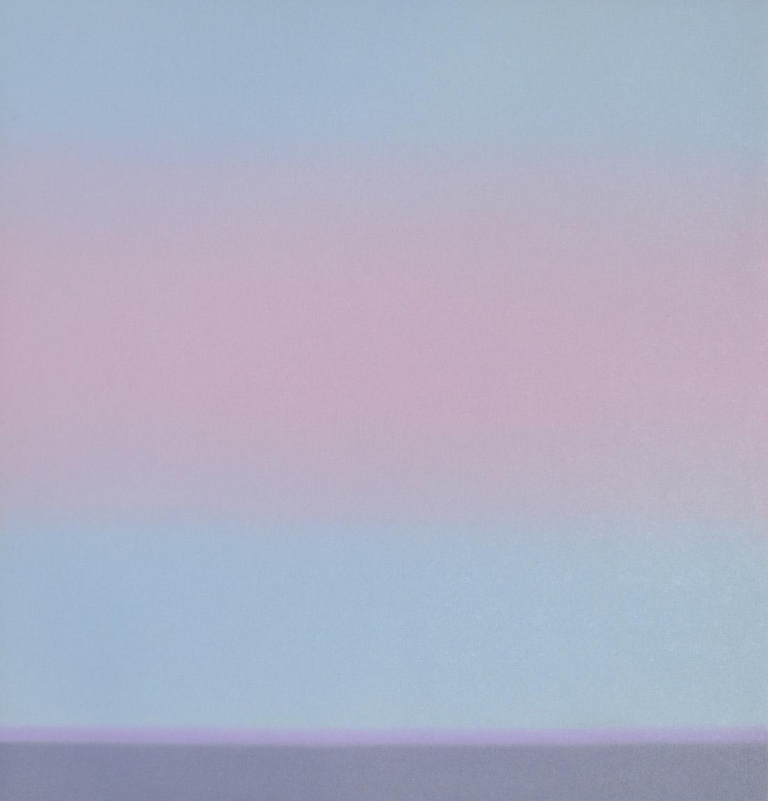 A pale pink cloud