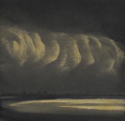 Evening light on clouds I