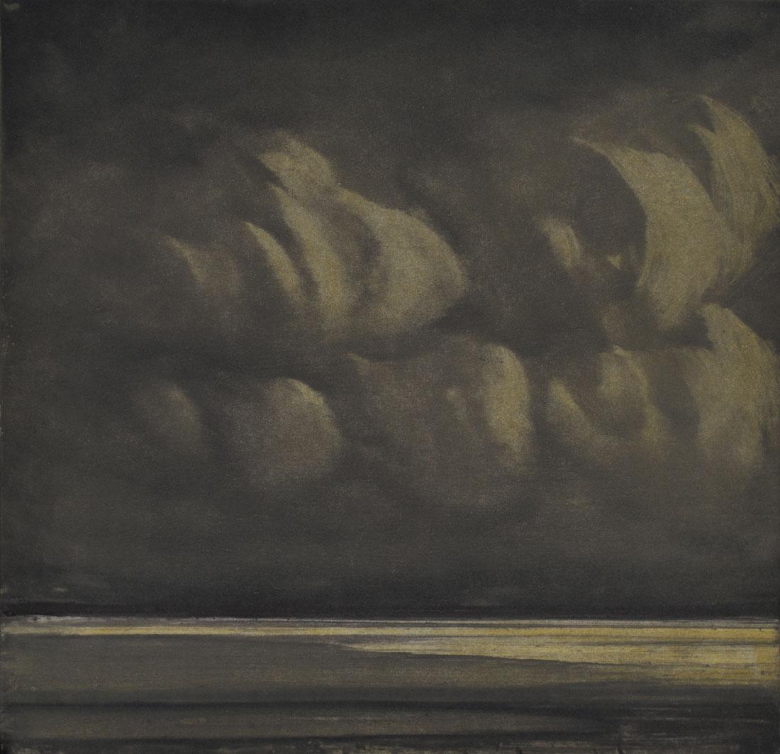 Evening light on clouds II